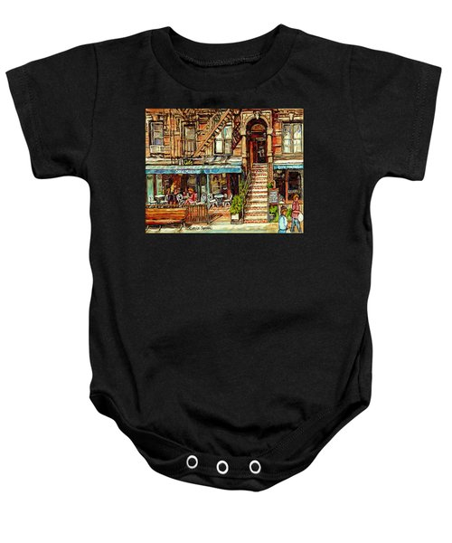 Cafe Mogador Moroccan Mediterranean Cuisine New York Paintings East Village Storefronts Street Scene Baby Onesie