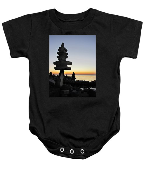 Cairns At Sunset At Door Bluff Headlands Baby Onesie