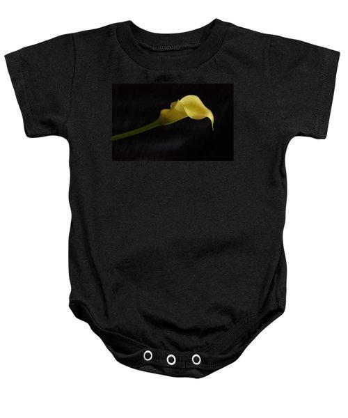 Calla Lily Yellow II Baby Onesie