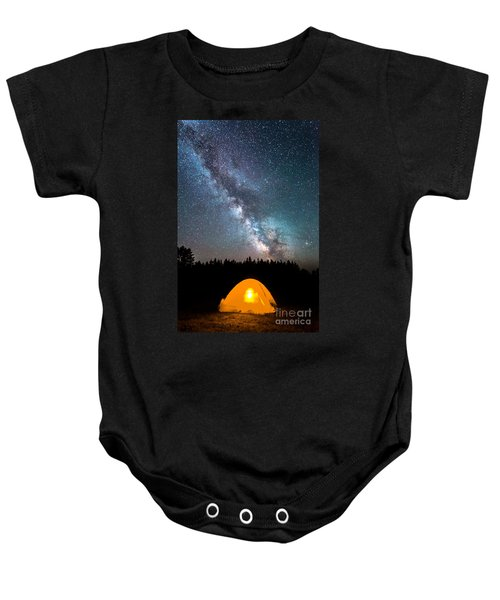 Camping Under The Stars Baby Onesie