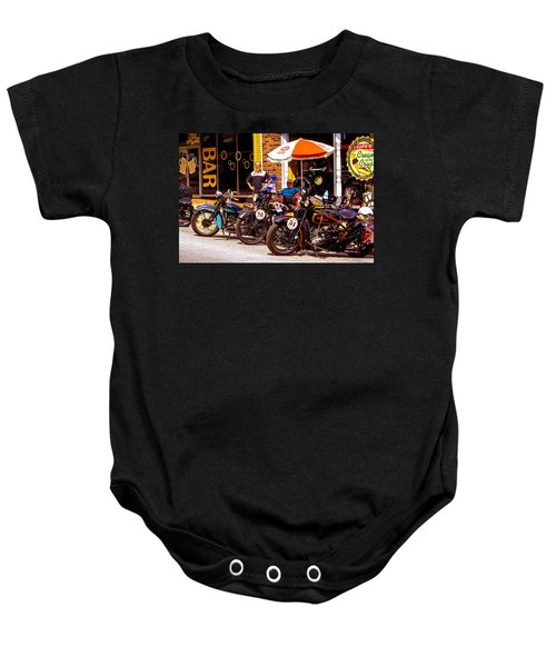 Cannonball Motorcycle Colors Baby Onesie