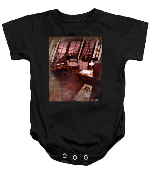 Captain's Cabin On The Dicey Baby Onesie