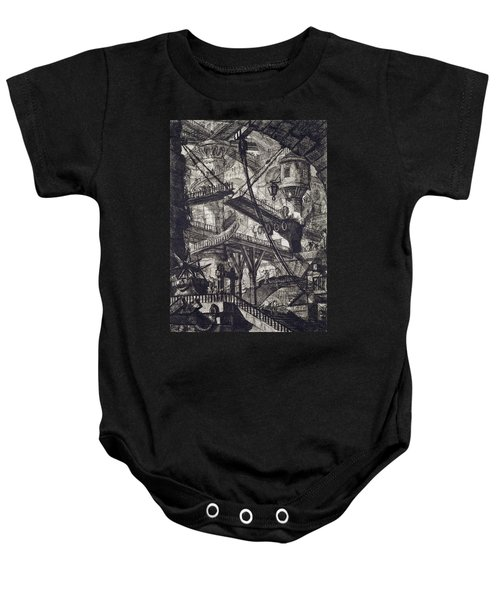 Carceri Vii Baby Onesie by Giovanni Battista Piranesi