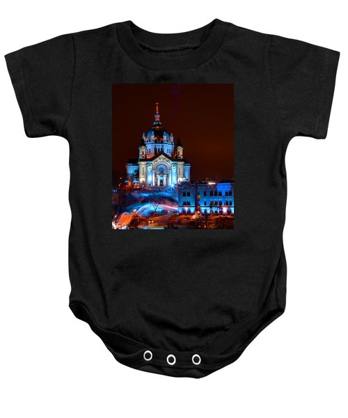 Cathedral Of St Paul All Dressed Up For Red Bull Crashed Ice Baby Onesie