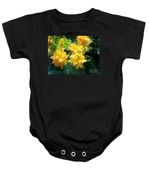 Centered Yellow Floral Baby Onesie