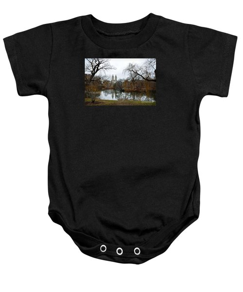 Central Park And San Remo Building In The Background Baby Onesie by RicardMN Photography