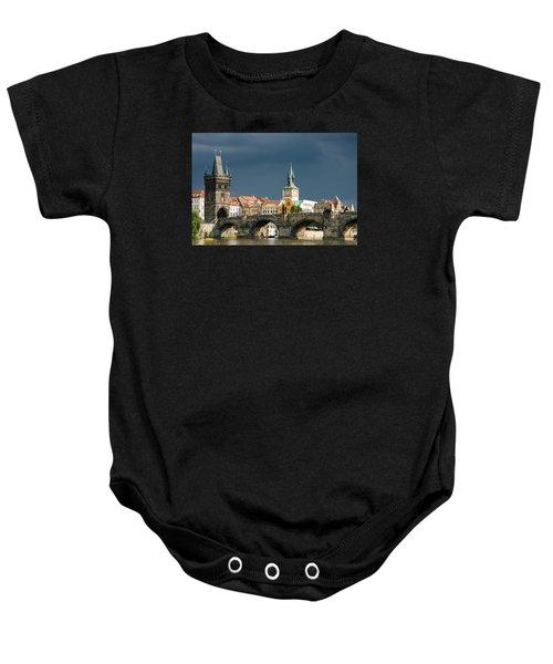 Charles Bridge Prague Baby Onesie by Matthias Hauser