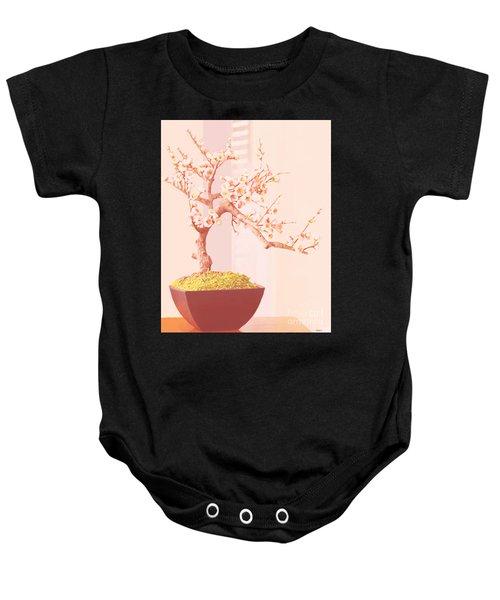 Cherry Bonsai Tree Baby Onesie
