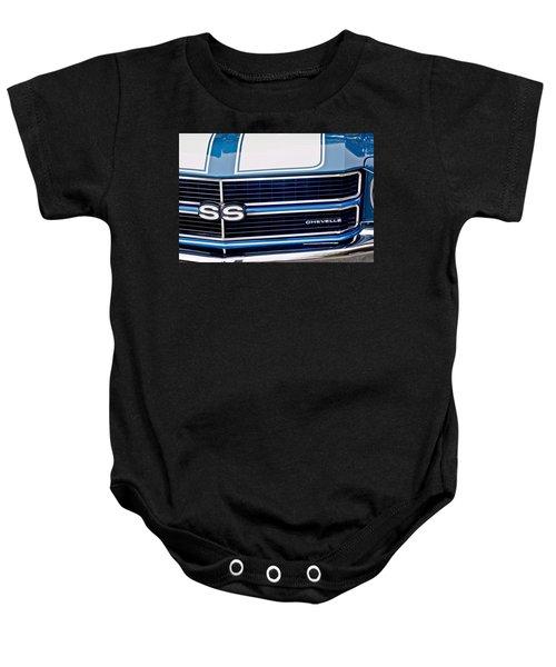 Chevrolet Chevelle Ss Grille Emblem 2 Baby Onesie