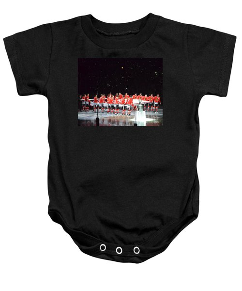 Chicago Blackhawks And The Banner Baby Onesie