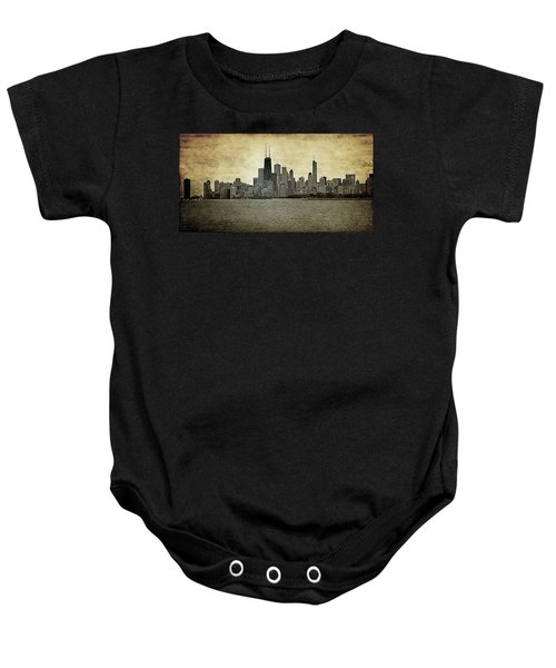 Chicago On Canvas Baby Onesie