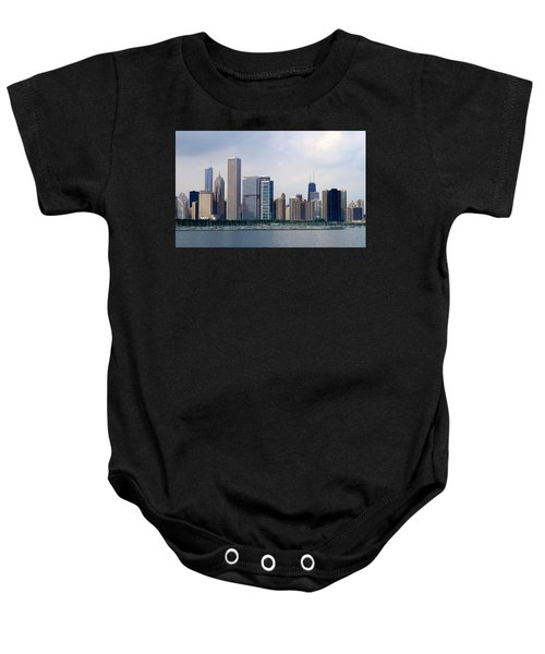 Chicago Panorama Baby Onesie