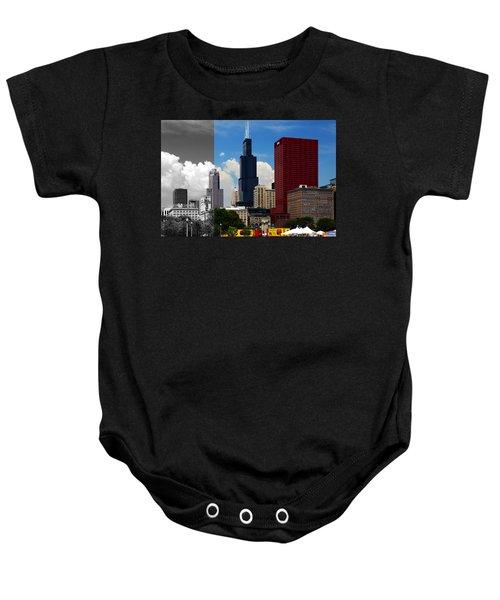 Chicago Skyline Sears Tower Baby Onesie