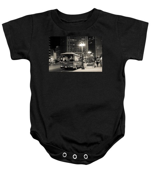 Chicago Trolly Stop Baby Onesie
