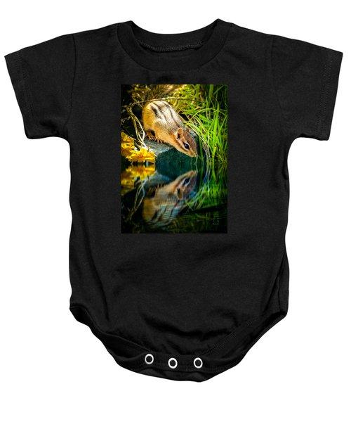 Chipmunk Reflection Baby Onesie