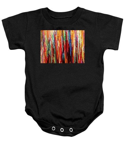 A Rainbow Melting  Baby Onesie
