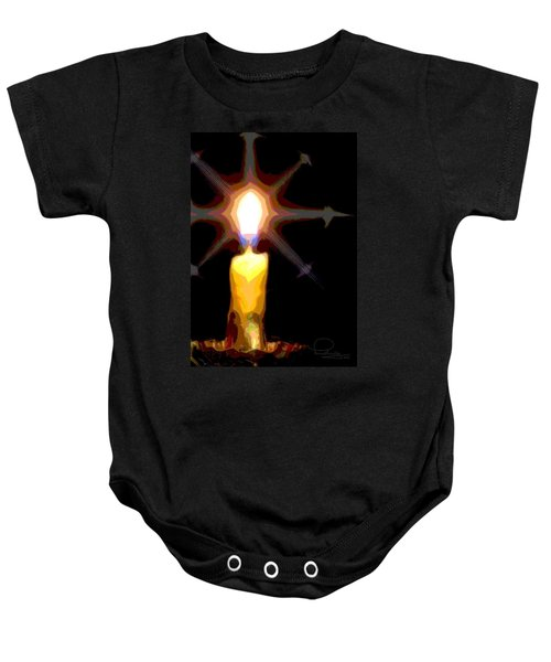 Christmas Candle Baby Onesie