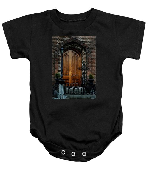 Church Arch And Wooden Door Architecture Baby Onesie