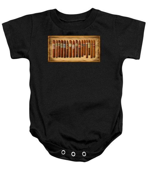 Cigar Sampler Painting Baby Onesie