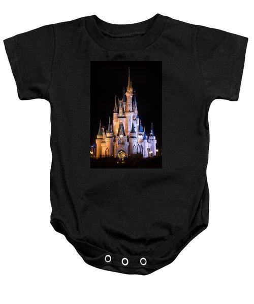 Cinderella's Castle In Magic Kingdom Baby Onesie