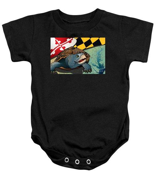 Citizen Terrapin Maryland's Turtle Baby Onesie by Joe Barsin