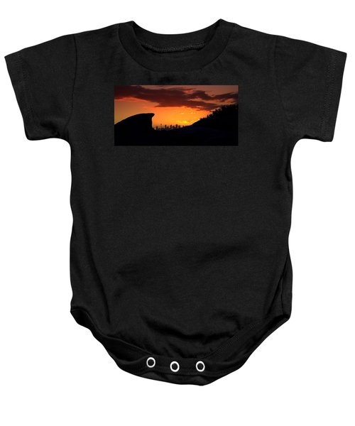 Baby Onesie featuring the photograph City In A Palm Of Rock by Miroslava Jurcik