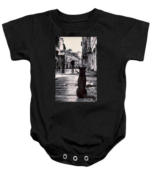 City Streets And The Theory Of Waiting Baby Onesie
