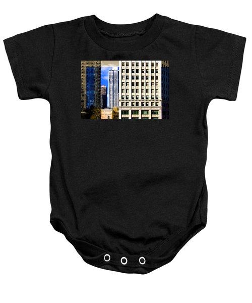 Cityscape Windows Baby Onesie
