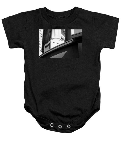 Classical Architectural Columns Black White Baby Onesie