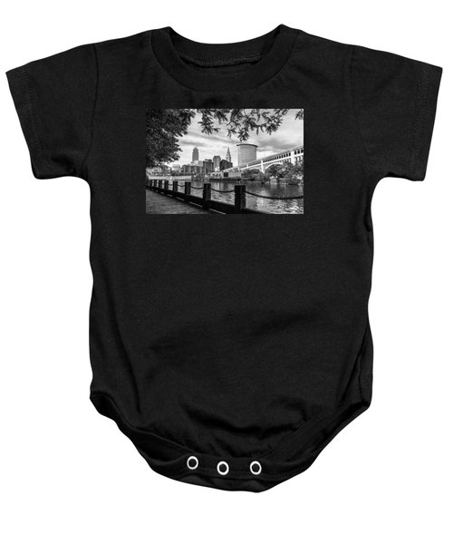 Cleveland River Cityscape Baby Onesie