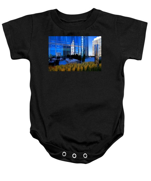 Clock Tower Reflection Baby Onesie