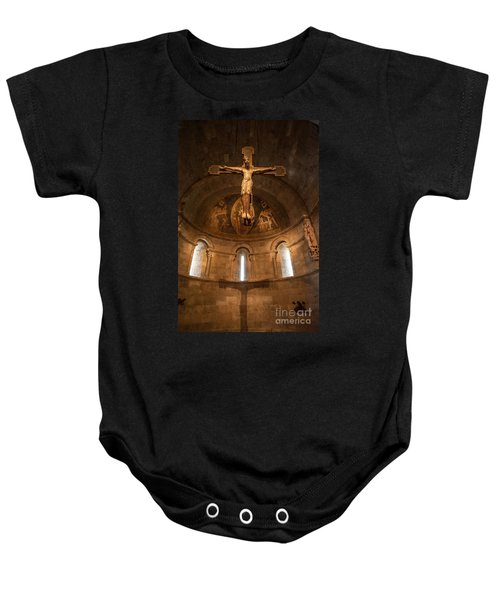 Cloisters Crucifixion Baby Onesie