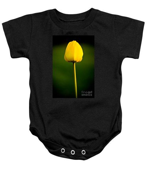 Closed Yellow Flower Baby Onesie