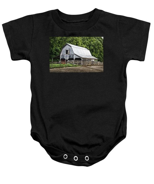 Clubhouse Road Barn Baby Onesie