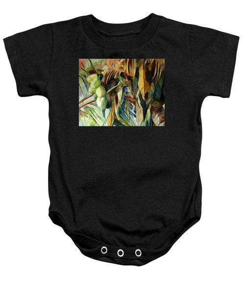 Coconuts And Palm Fronds 5-16-11 Julianne Felton Baby Onesie