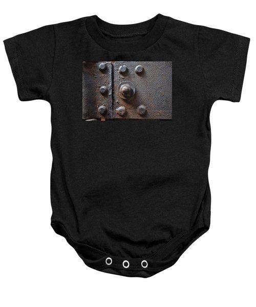 Color Of Steel 3 Baby Onesie