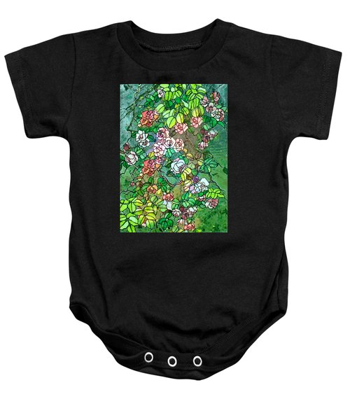 Colored Rose Garden Baby Onesie