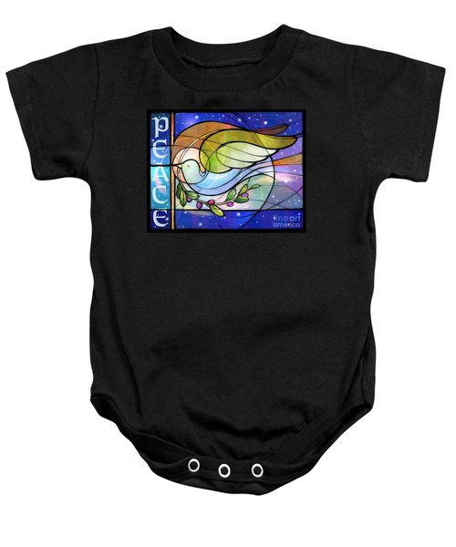 Colorful Peace Dove Baby Onesie