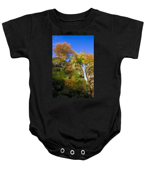 Colorful Trees In The Elbe Sandstone Mountains Baby Onesie