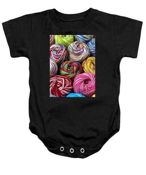 Colorful Yarn Baby Onesie