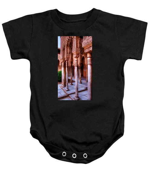 Columns Of The Court Of The Lions - Painting Baby Onesie