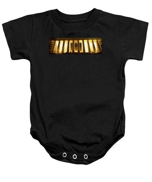 Columns Surrounding A Memorial, Lincoln Baby Onesie