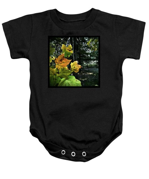 Coming Of Fall Baby Onesie
