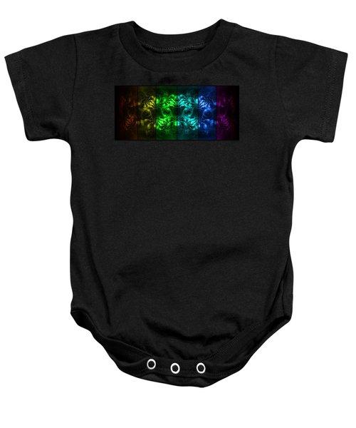 Cosmic Alien Eyes Pride Baby Onesie