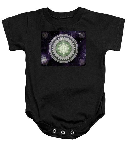 Cosmic Medallions Earth Baby Onesie