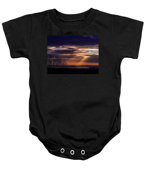 Cosmic Spotlight On Shannon Airport Baby Onesie