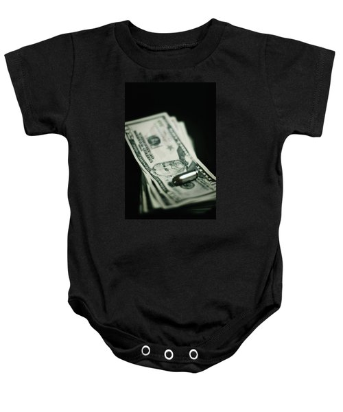 Cost Of One Bullet Baby Onesie