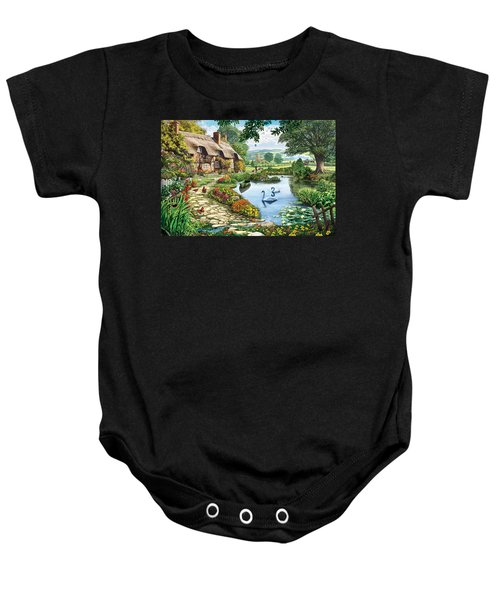 Cottage By The Lake Baby Onesie