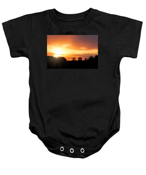 Country Sunset Silhouette Baby Onesie
