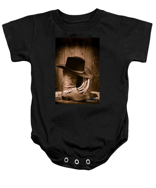 Cowboy Hat And Boots Baby Onesie